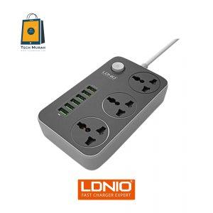 LDNIO SC3604 6 USB 3 Auto Max 3.4A Power Socket Anti Static Power Socket (NEW) One To One Warranty