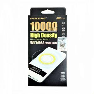 PINENG PN-886 10000mah High Density Li-On Polymer Battery Wireless Power Bank (NEW) One To One Warranty