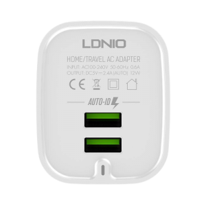 LDNIO A201 Fast Charger Expert 2.4A Current Max A201 Universal Travel Charger (NEW) One To One Warranty